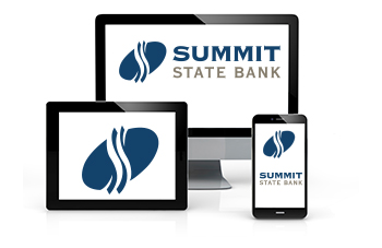 Summit State Bank mobile banking on computers, smart phones, and tablets